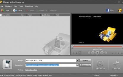 Converting Videos Using Movavi Video Converter