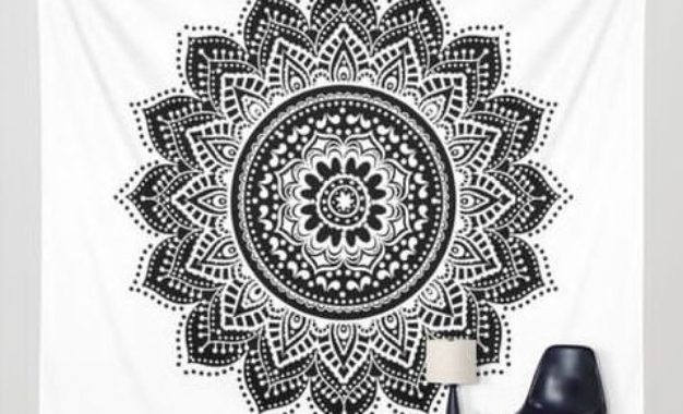 Exploring Modern Black and White Wall Tapestry Online